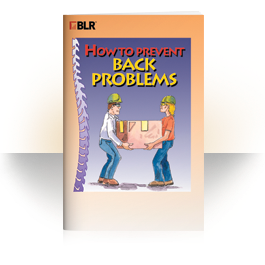 Back Injury Prevention training booklet