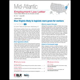 Mid-Atlantic Employment Law Letter
