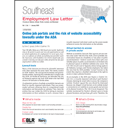 Southeast Employment Law Letter