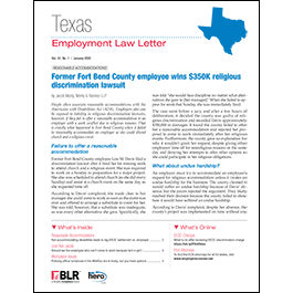 Texas Employment Law Letter