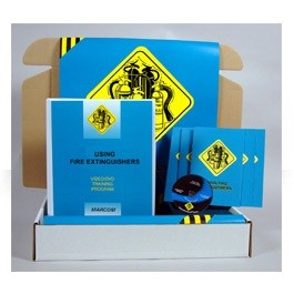 Using Fire Extinguishers Safety Meeting Kit - in Spanish or English