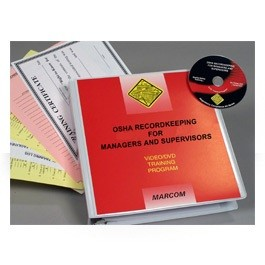 OSHA Recordkeeping for Managers and Supervisors DVD Program - in English or Spanish