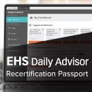 EHS Daily Advisor Recertification Passport