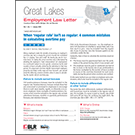 Great Lakes Employment Law Letter
